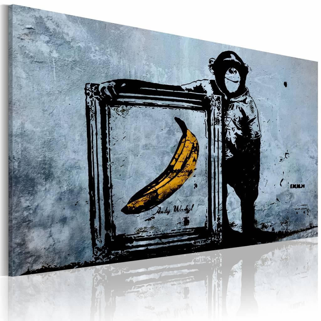 Schilderij - Inspired by Banksy , wanddecoratie , premium print op canvas