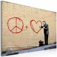 Schilderij - Banksy - Peace and Love Doctor, 40x60cm