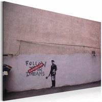 Schilderij - Follow your dreams: cancelled (Banksy)