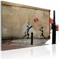 Canvas Schilderij - No ball games (Banksy), 40x60cm, 1 deel