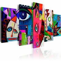 Schilderij - Circus of everyday life