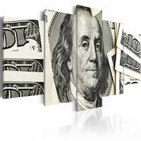 Schilderij - $100: Benjamin Franklin