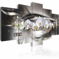 Schilderij - Steel orchids