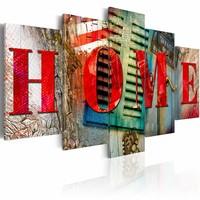 Schilderij - Home , multi kleur , 5 luik