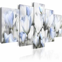 Schilderij - Garden of hope, tulpen , 5 luik