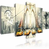 Schilderij - New York in beeld , 5 luik