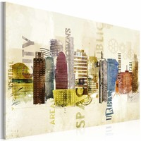 Schilderij - Urban design