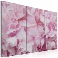 Schilderij - Azalea in roze , 3 luik