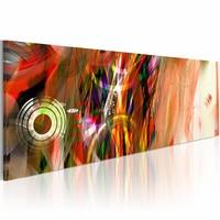 Schilderij - Lichtcyclus , oranje , 1 luik , 120x40