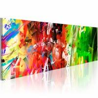 Schilderij - Elementaire vormen , multi kleur