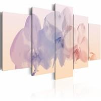 Schilderij - Breekbare schoonheid , pastel beige , 5 luik