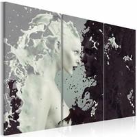Schilderij - Black or white? - triptych
