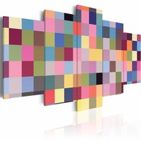Schilderij - Galerij van kleuren , multi kleur , 5 luik
