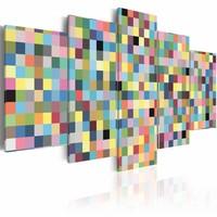 Schilderij - Galerij van kleuren II , multi kleur , geel , 5 luik