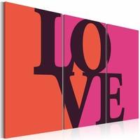 Schilderij - Where is the love?