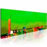 Schilderij - Kracht in het groen ,  1 luik ,  120x40