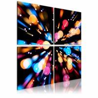Schilderij - Snelheid van licht , multi kleur , 4 luik , 2 maten