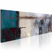 Schilderij - Turquoise accenten