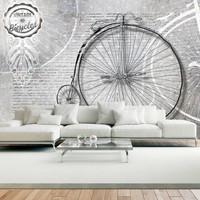 Fotobehang - Vintage bicycles - black and white