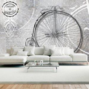 Fotobehang - Vintage fiets, zwart wit