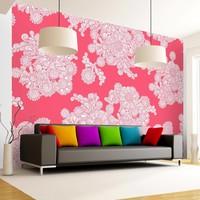 Fotobehang - Wolken in roze
