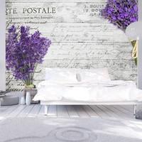 Fotobehang - Lavender postcard