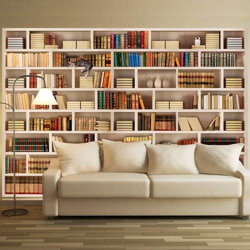 Fotobehang - Bibliotheek thuis