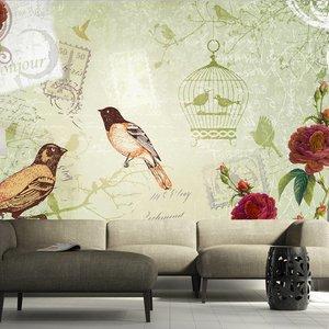 Fotobehang - Vintage vogels