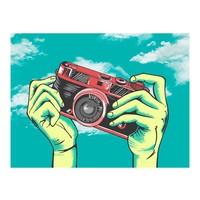 Fotobehang - Camera