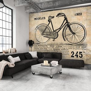 Fotobehang - Oude fiets