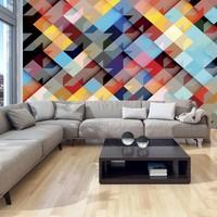 Fotobehang - Patchwork in kleur