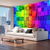 Fotobehang - Puzzel in neon kleuren