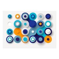 Fotobehang - Geometry Of Blue Wheels