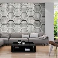 Fotobehang - Platinum honingraat