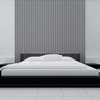 Fotobehang - Zwart en wit illusie