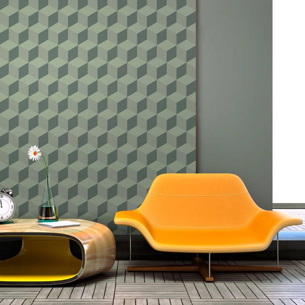 Fotobehang - Monochromatische blokjes