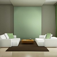 Fotobehang - Zuiverheid van vorm, groen