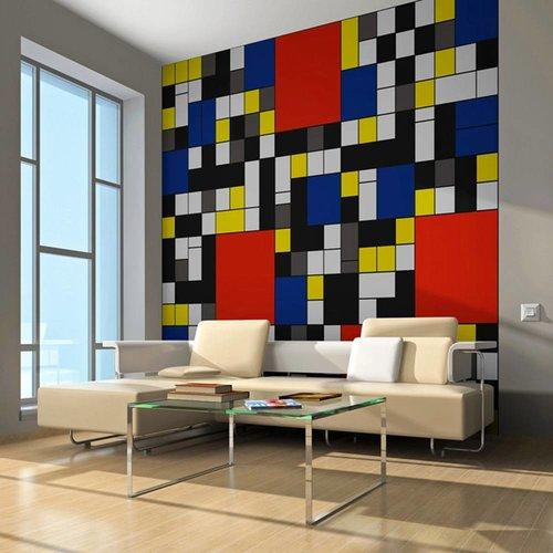 Fotobehang - Inspired by Piet Mondrian