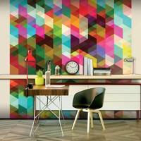Fotobehang - Kleurrijke geometrie