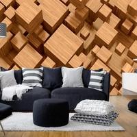 Fotobehang - Labirint van hout
