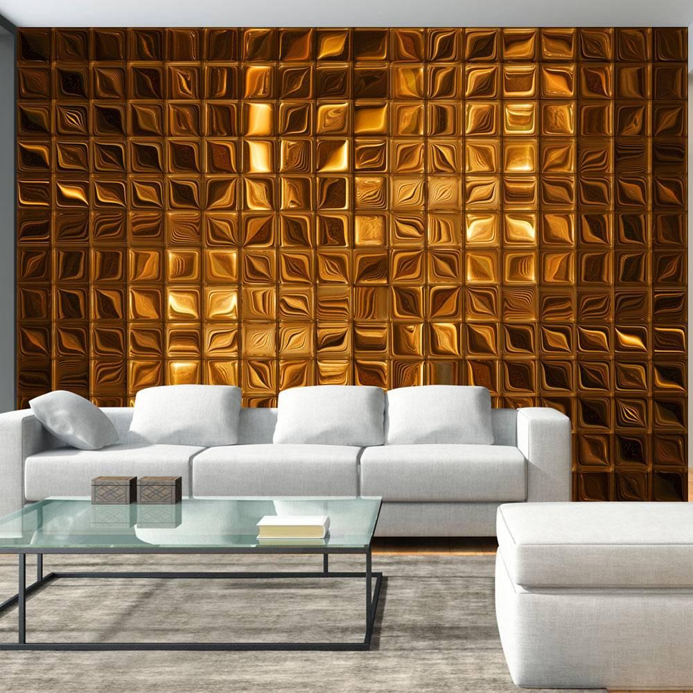 Fotobehang - Bronzen blokken