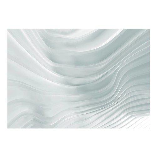 Fotobehang - Golvend wit