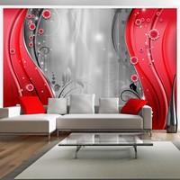 Fotobehang - Achter het rode gordijn