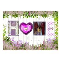 Fotobehang - Heide omheining, Home