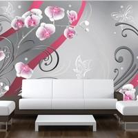 Fotobehang - Roze orchideeën