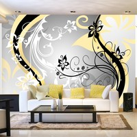 Fotobehang - Art-flowers (yellow)