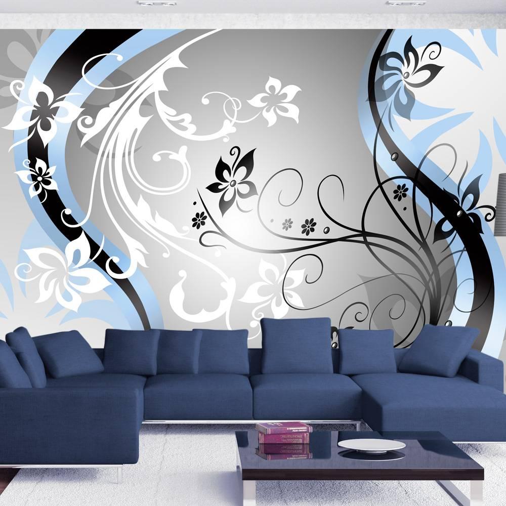 Fotobehang - Art-Bloemen , blauw
