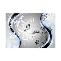 Fotobehang - Art-flowers (blue)