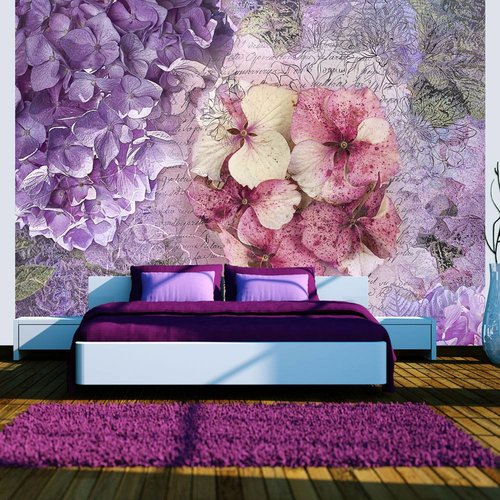 Fotobehang - Herinnering  in paars en roze