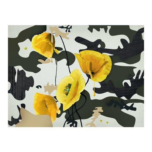 Fotobehang - Bloemen in het geel